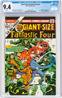 Giant-Size Fantastic Four #4 (Marvel, 1975) CGC NM 9.4 White pages