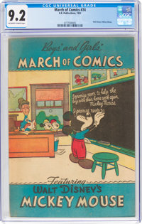 March of Comics #74 Mickey Mouse (K. K. Publications, Inc., 1951) CGC NM- 9.2 Off-white to white pages