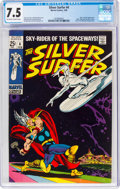 The Silver Surfer #4 (Marvel, 1969) CGC VF- 7.5 Off-white to white pages