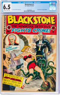 Blackstone, the Magician Detective #1 (EC, 1947) CGC FN+ 6.5 Off-white to white pages