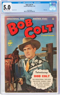 Bob Colt #1 (Fawcett Publications, 1950) CGC VG/FN 5.0 Off-white to white pages
