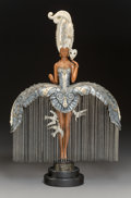 Sculpture, Erté (Romain de Tirtoff) (Russian/French, 1892-1990). Her Secret Admirers, 1988. Partial gilt and cold...