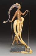 Sculpture, Erté (Romain de Tirtoff) (Russian/French, 1892-1990). Pleasure of the Courtesan, 1988. Partial gilt and cold painted bro...