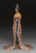Sculpture, Erté (Romain de Tirtoff) (Russian/French, 1892-1990). Feather Gown, 1988. Cold painted and partial gilt bronze . 17-1/8 ...