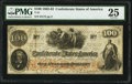 Confederate Notes:1862 Issues, T41 $100 1862 PF-24 Cr. 320C PMG Very Fine 25.. ...