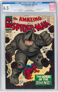 The Amazing Spider-Man #41 (Marvel, 1966) CGC FN+ 6.5 Off-white to white pages