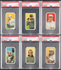 Baseball Cards:Lots, 1909-11 T206 Piedmont, Polar Bear & Sweet Caporal PSA VG 3 Graded Collection (6)....