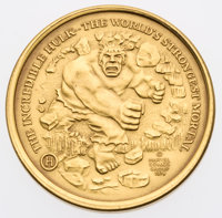 Incredible Hulk Official Marvel Gold Collector's Coin #1056 (Marvel, 1974) Condition: NM