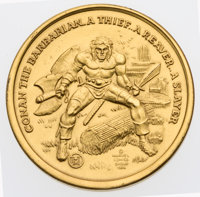 Conan the Barbarian Official Marvel Collector's Gold Coin #1066 (Marvel, 1974) Condition: NM