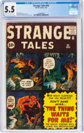 Silver Age (1956-1969):Science Fiction, Strange Tales #92 (Marvel, 1962) CGC FN- 5.5 Cream to off-white pages....