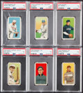 Baseball Cards:Lots, 1909-11 T206 Old Mill, Piedmont & Sweet Caporal PSA VG 3 Grade Collection (6)....