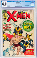 Silver Age (1956-1969):Superhero, X-Men #3 (Marvel, 1964) CGC VG 4.0 Off-white pages....