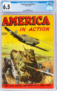America in Action #nn (Whitman, 1942) CGC FN+ 6.5 Cream to off-white pages