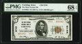 National Bank Notes:Iowa, Corning, IA - $5 1929 Ty. 2 The Okey -Vernon National Bank Ch. # 8725 PMG Superb Gem Unc 68 EPQ.. ...