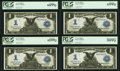 Large Size:Silver Certificates, Fr. 233 $1 1899 Silver Certificates Cut Sheet of Four.. ... (Total: 4 notes)