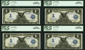 Large Size:Silver Certificates, Fr. 233 $1 1899 Silver Certificates Cut Sheet of Four. . ... (Total: 4 notes)