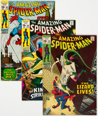 The Amazing Spider-Man Group of 5 (Marvel, 1969-73) Condition: Average FN/VF.... (Total: 5 Comic Books)