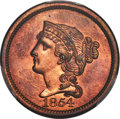1854 P1C One Cent, Judd-160, Pollock-187, R.4, PR66 Red and Brown PCGS. CAC....(PCGS# 11660)