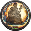 Proof Seated Dimes, 1866 10C PR66+ Cameo PCGS. CAC. F-102, R.3....