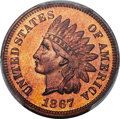 Proof Indian Cents, 1867 1C PR66 Red and Brown PCGS....