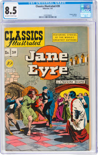 Classics Illustrated #39 Jane Eyre - First Edition (Gilberton, 1947) CGC VF+ 8.5 Off-white to white pages