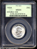 Washington Quarters: , 1934 25C Doubled Die Obverse MS64 PCGS....
