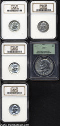 Washington Quarters: , 1942-S 25C MS67 NGC,... (4 coins)