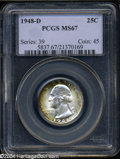 Washington Quarters: , 1948-D 25C MS67 PCGS....