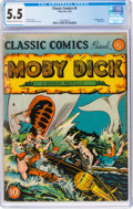 Golden Age (1938-1955):Classics Illustrated, Classic Comics #5 Moby Dick - First Edition (Gilberton, 1942) CGC FN- 5.5 Cream to off-white pages....