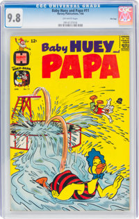 Baby Huey and Papa #11 File Copy (Harvey, 1964) CGC NM/MT 9.8 Off-white pages