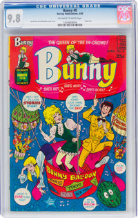 Bunny #8 (Harvey, 1969) CGC NM/MT 9.8 Off-white to white pages