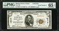 National Bank Notes:Texas, Honey Grove, TX - $5 1929 Ty. 1 First National Bank Ch. # 13416 PMG Gem Uncirculated 65 EPQ.. ...