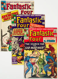 Fantastic Four #25-30 Group (Marvel, 1964) Condition: Average VG.... (Total: 6 Comic Books)