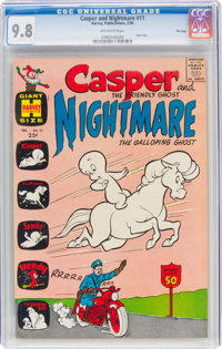 Casper and Nightmare #11 File Copy (Harvey, 1966) CGC NM/MT 9.8 Off-white pages