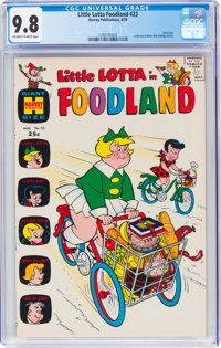 Little Lotta Foodland #23 File Copy (Harvey, 1970) CGC NM/MT 9.8 Off-white to white pages