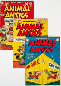 Animal Antics and Movie Town Animal Antics Group of 5 (DC, 1949-53) Condition: Average VG+.... (Total: 5 Comic Books)