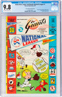 Richie Rich, Casper and Wendy National League #1 San Francisco Giants Variant (Harvey, 1976) CGC NM/MT 9.8 Off-white to...