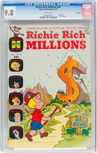 Richie Rich Millions #47 File Copy (Harvey, 1971) CGC NM/MT 9.8 White pages