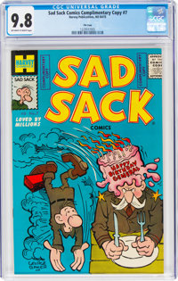Sad Sack Comics #7 File Copy (Harvey, No Date) CGC NM/MT 9.8 Off-white to white pages