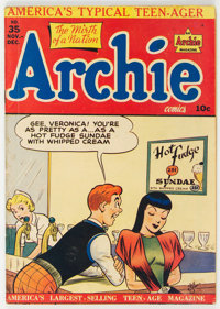 Archie Comics #35 (Archie, 1948) Condition: VG+