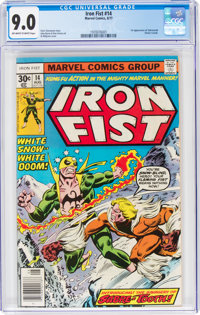 Iron Fist #14 (Marvel, 1977) CGC VF/NM 9.0 Off-white to white pages