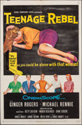 "Movie Posters:Drama, Teenage Rebel & Other Lot (20th Century Fox, 1956). Folded, Fine/Very Fine. One Sheet (27"" X 41"") & Three Sheet (40.5"" X 81""... (Total: 2 Items)"
