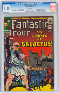 Fantastic Four #48 (Marvel, 1966) CGC FN/VF 7.0 White pages