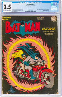 Batman #25 (DC, 1944) CGC GD+ 2.5 Off-white to white pages