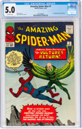 Silver Age (1956-1969):Superhero, The Amazing Spider-Man #7 (Marvel, 1963) CGC VG/FN 5.0 Off-white pages....