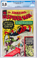 Silver Age (1956-1969):Superhero, The Amazing Spider-Man #14 (Marvel, 1964) CGC VG/FN 5.0 White pages....