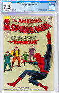 Silver Age (1956-1969):Superhero, The Amazing Spider-Man #10 (Marvel, 1964) CGC VF- 7.5 White pages....