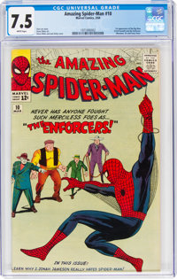 The Amazing Spider-Man #10 (Marvel, 1964) CGC VF- 7.5 White pages