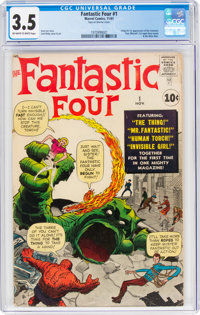 Fantastic Four #1 (Marvel, 1961) CGC VG- 3.5 Off-white to white pages