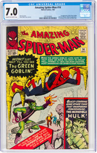 The Amazing Spider-Man #14 (Marvel, 1964) CGC FN/VF 7.0 Cream to off-white pages